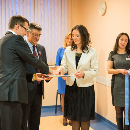 "Opening of the ""Osteopathy and Pain Medicine clinic"" in the Jurmala hospital in 2016"